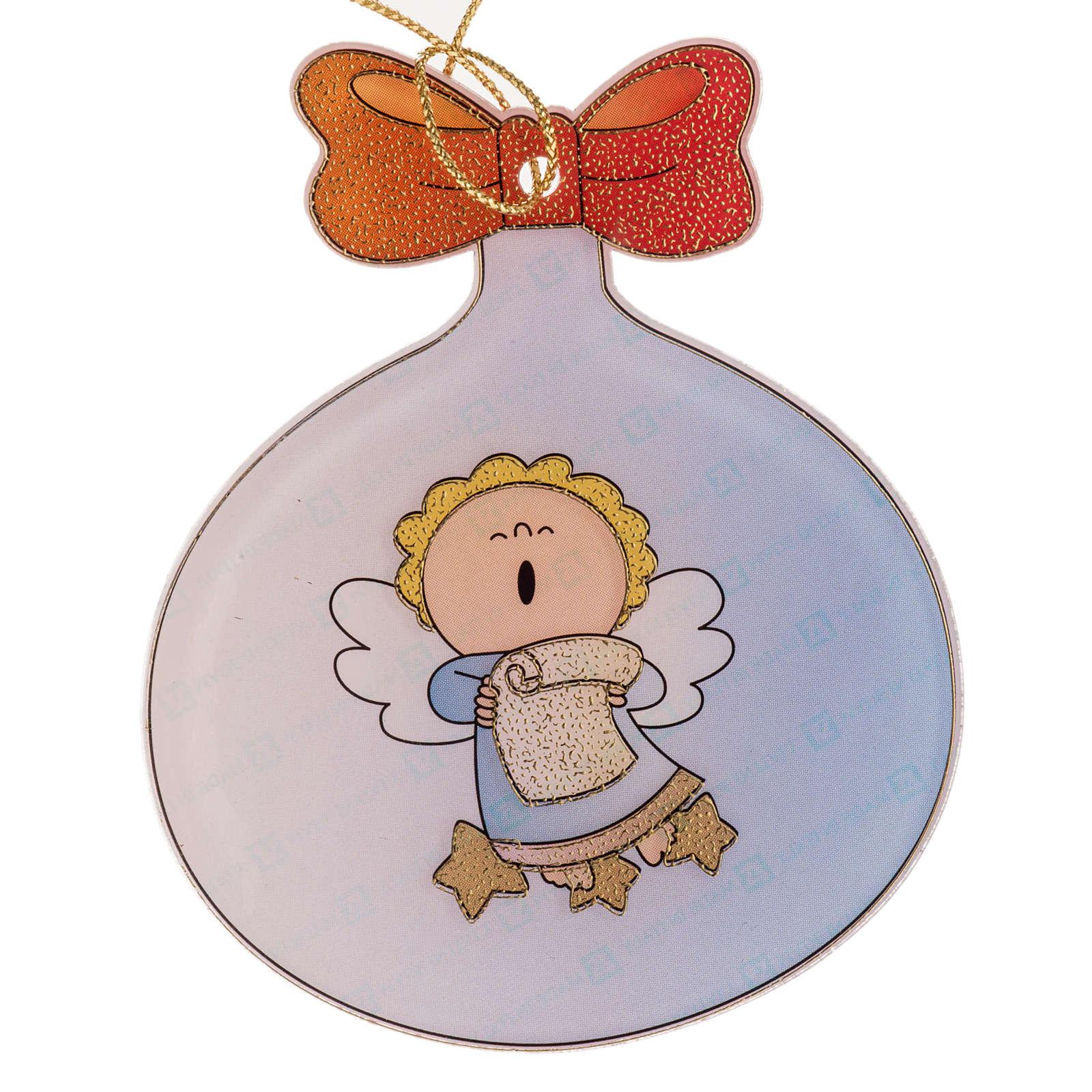 Adorno árbol de navidad, ángel en plástico 4