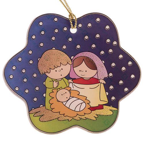 Decoration for the Christmas tree in plexiglass, nativity 1