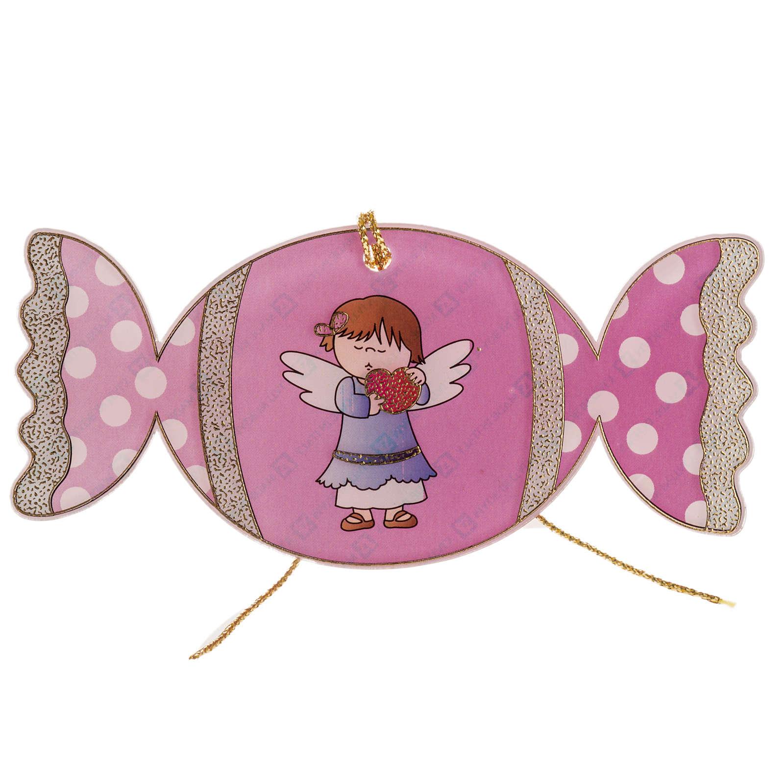Adorno para árbol de navidad, caramelo con ángel 4