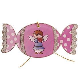 Adorno para árbol de navidad, caramelo con ángel s1