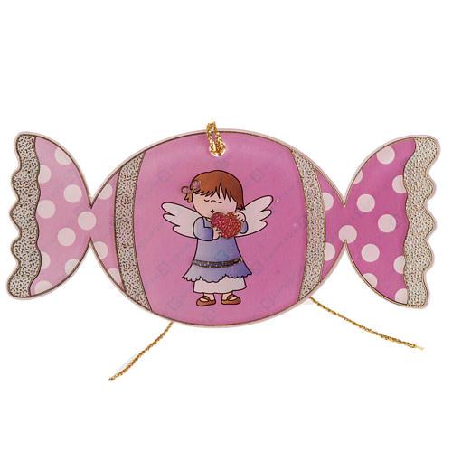 Adorno para árbol de navidad, caramelo con ángel 1