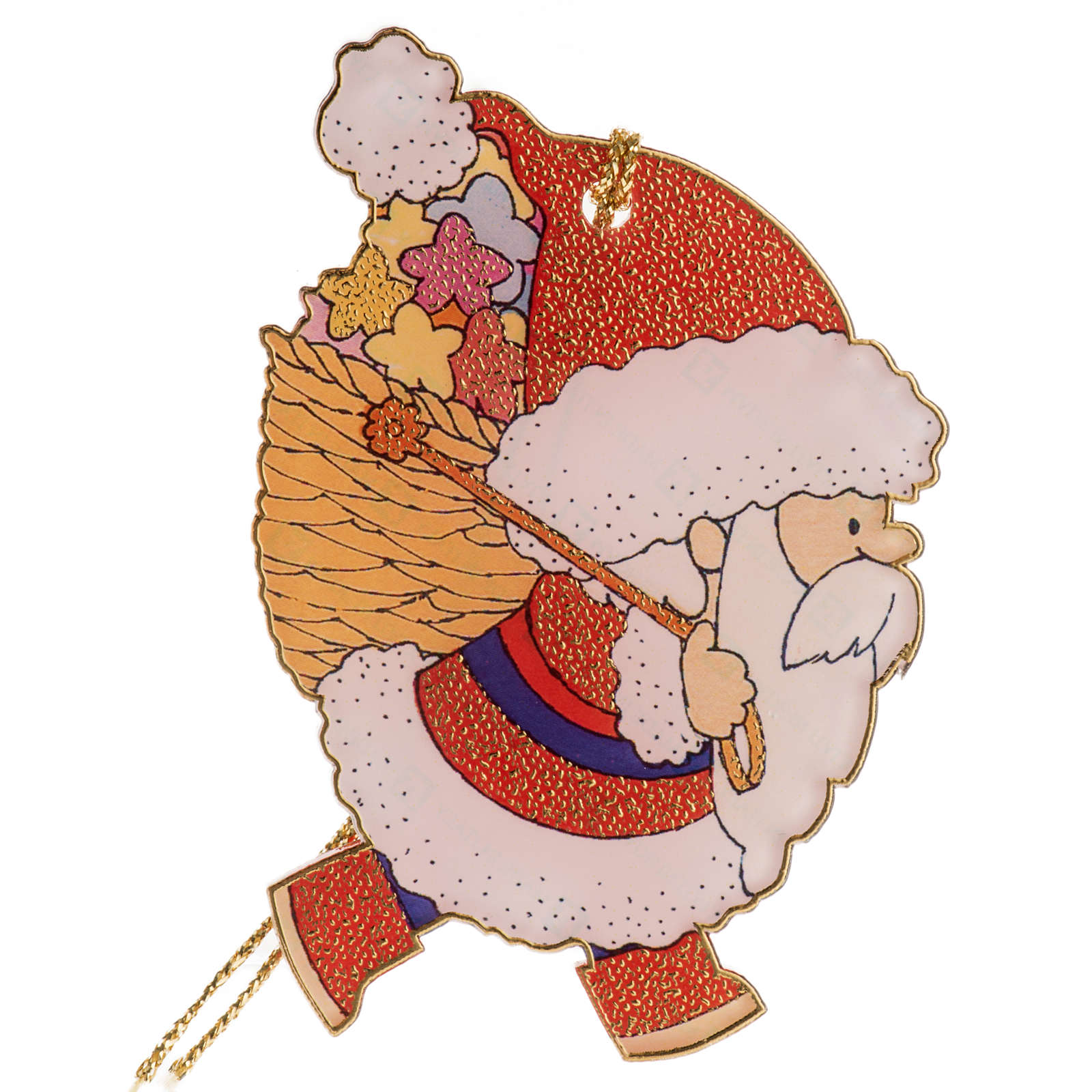 Decoration for the Christmas tree in plexiglass, Santa Claus 4