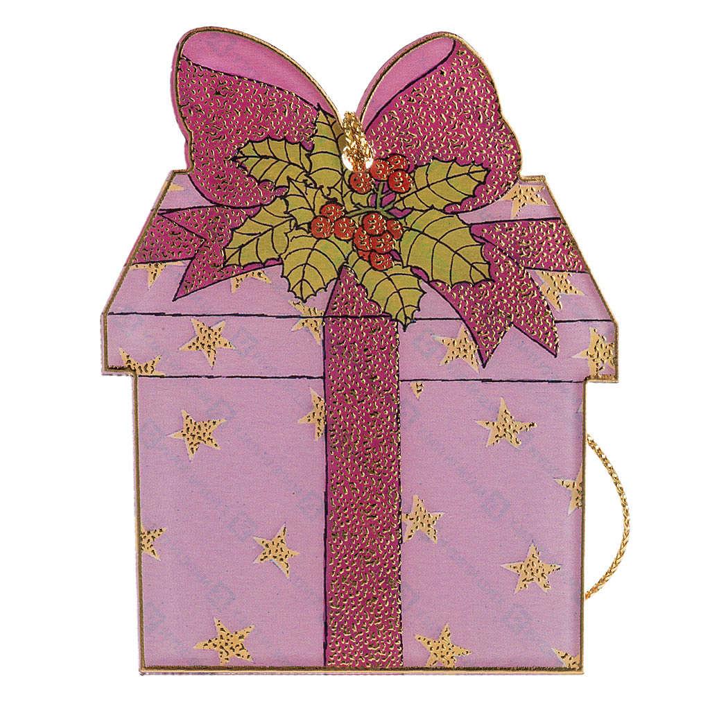 Addobbo albero Natale plexiglass regalo 4
