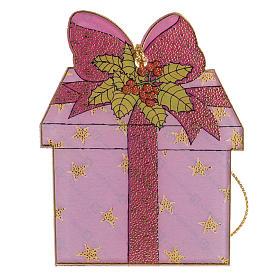 Addobbo albero Natale plexiglass regalo s1