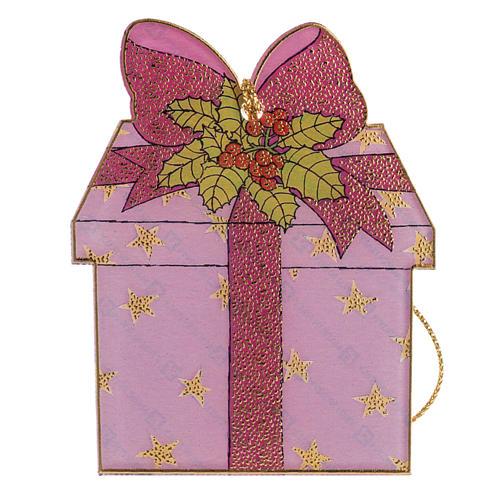 Addobbo albero Natale plexiglass regalo 1