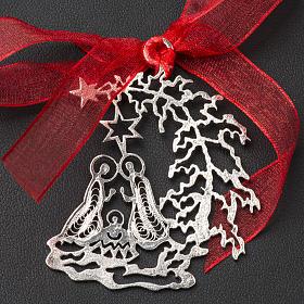 Addobbo Albero Natale argento 800 natività s2