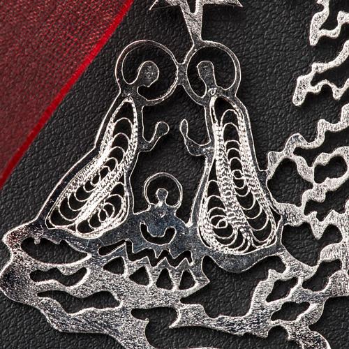 Addobbo Albero Natale argento 800 natività 3