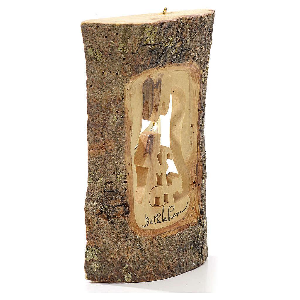 Addobbo albero olivo Terrasanta tronchetto pastore 4