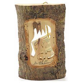 Addobbo albero olivo Terrasanta tronchetto pastore s1