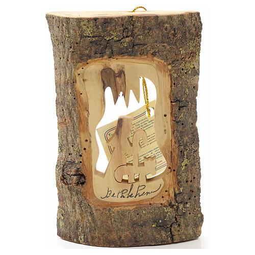 Addobbo albero olivo Terrasanta tronchetto pastore 1