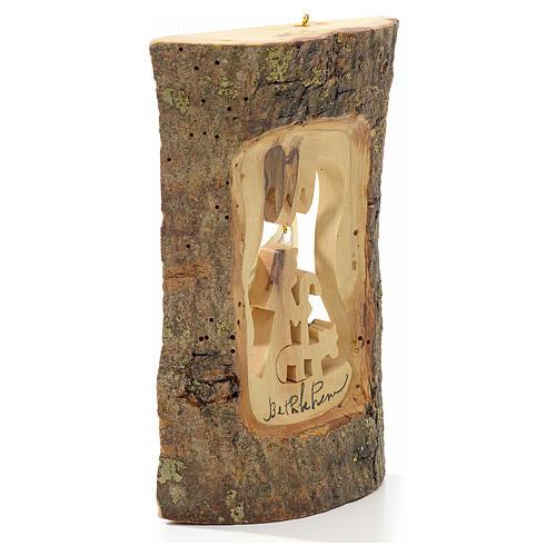Addobbo albero olivo Terrasanta tronchetto pastore 2