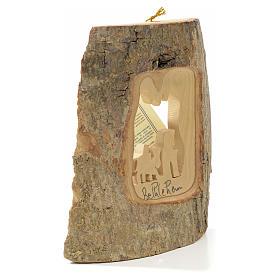 Décoration sapin Fuite en Égypte bois Terre Sainte s6
