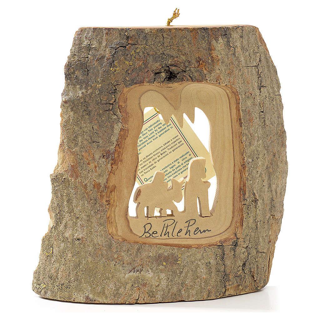 Ozdoba choinkowa drewno oliwne Ziemia Święta Ucieczka z Egiptu 4