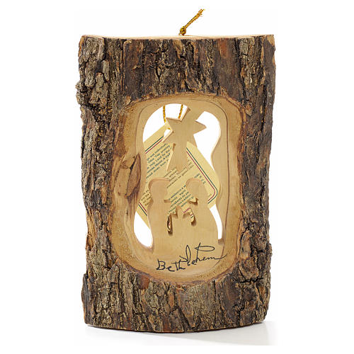 Addobbo albero olivo Terrasanta tronchetto Natività 1