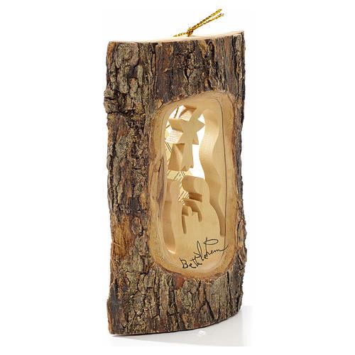 Addobbo albero olivo Terrasanta tronchetto Natività 2