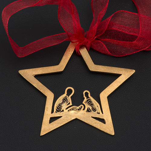 Christmas tree decoration in Holy Land olive wood, drop with nat 3