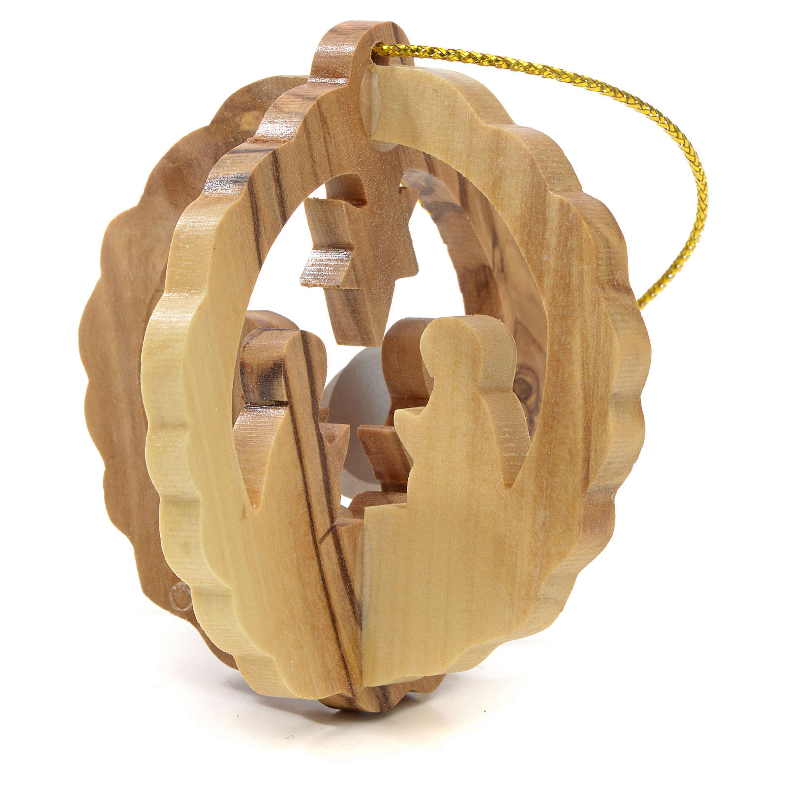 Christmas tree decoration in Holy Land olive wood 4