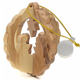 Christmas tree decoration in Holy Land olive wood s2