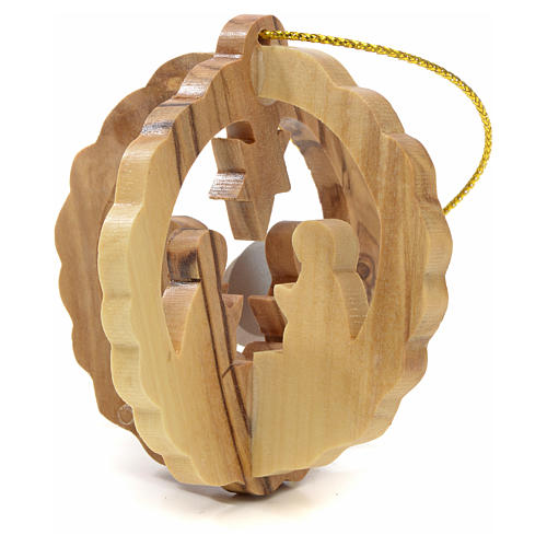 Christmas tree decoration in Holy Land olive wood 1