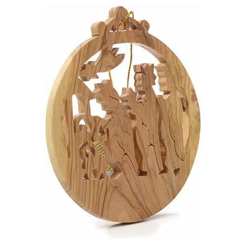 Rois Mages pour sapin en bois d'olivier Terre Sainte 2