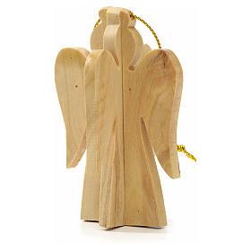 Décorations sapin bois et pvc: Ange à suspendre au sapin en bois d'olivier Terre Sainte