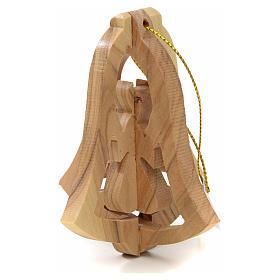 Ange à suspendre au sapin en bois d'olivier Terre Sainte s4