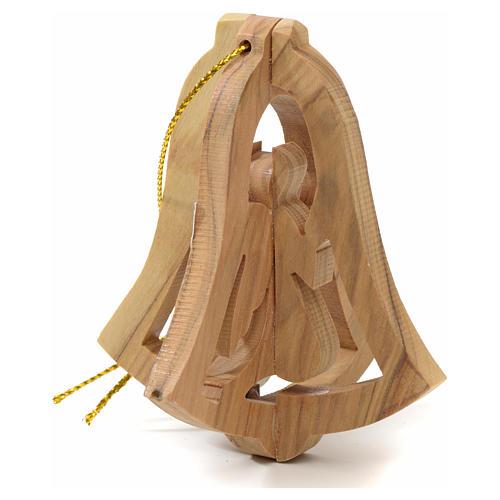 Ange à suspendre au sapin en bois d'olivier Terre Sainte 3