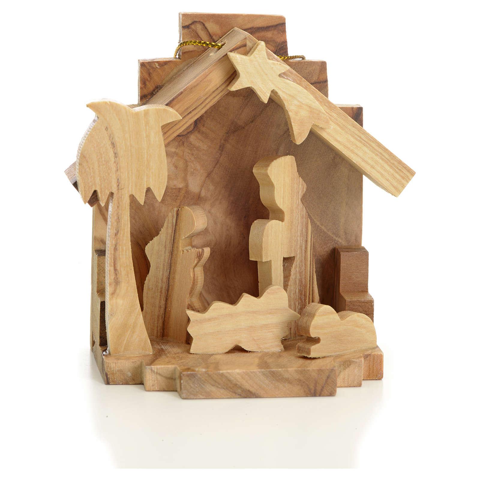 Sainte Famille à suspendre en bois d'olivier de Terre Sainte 4