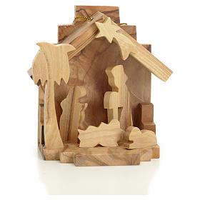 Sainte Famille à suspendre en bois d'olivier de Terre Sainte s1
