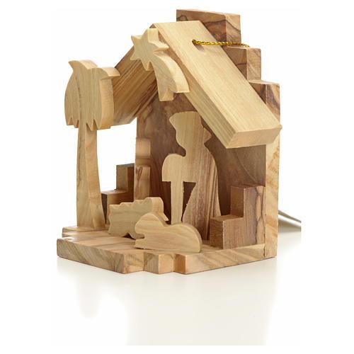 Sainte Famille à suspendre en bois d'olivier de Terre Sainte 2