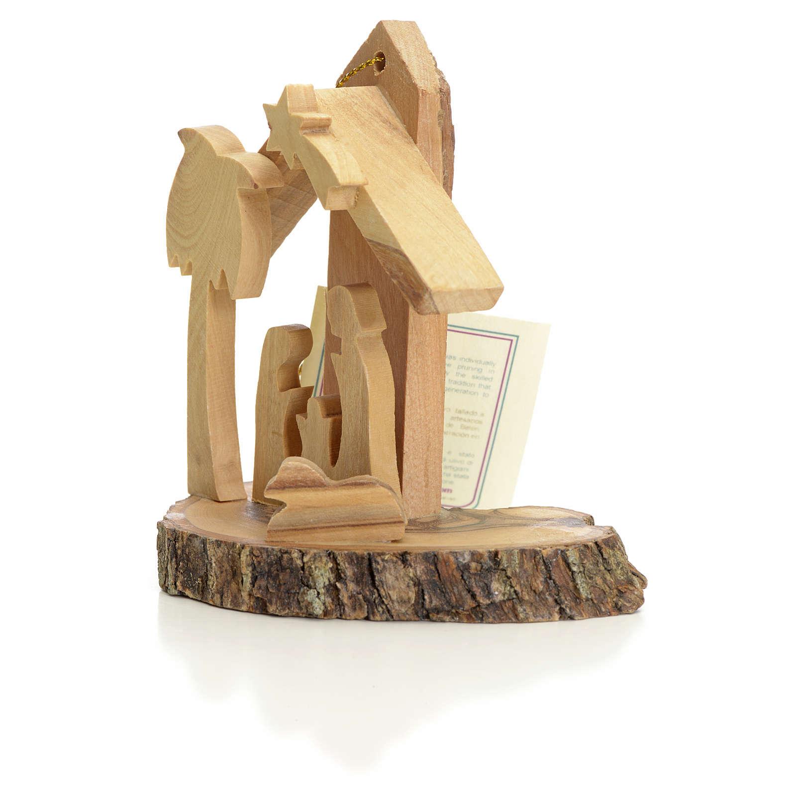 Nativity Christmas decoration, Holy Land olive wood 4