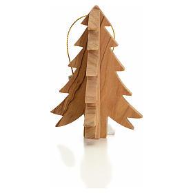 Adornos de madera y pvc para Árbol de Navidad: Adorno olivo Tierra Santa forma Árbol