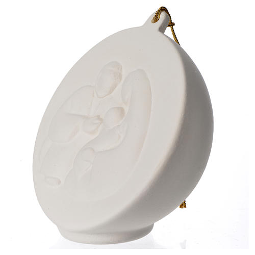 Terracotta Christmas bauble, Ave Loppiano 2