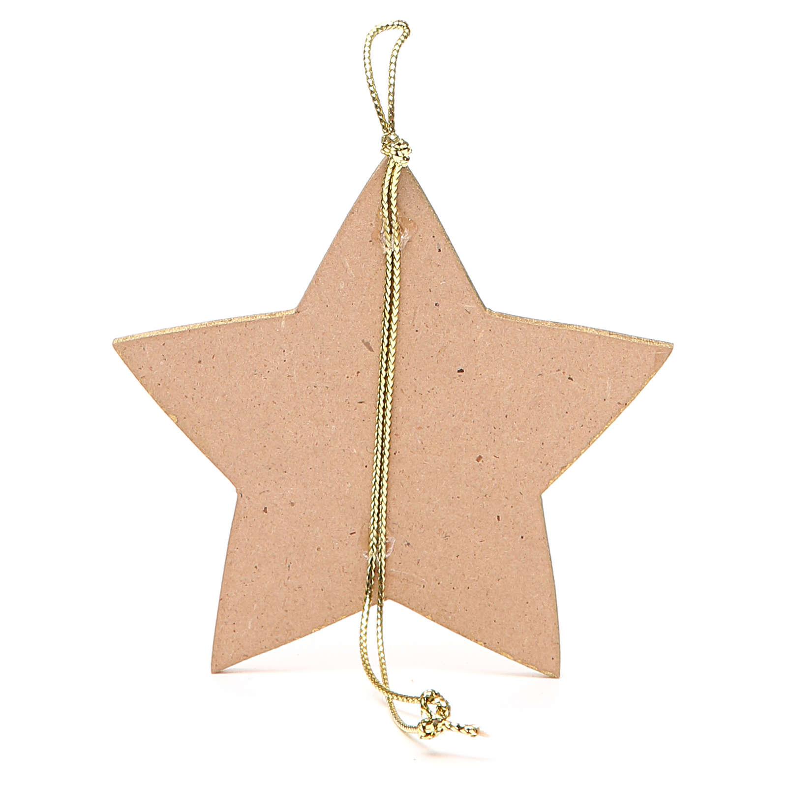 Stella dorata con corda 9,5x9,5 cm 4