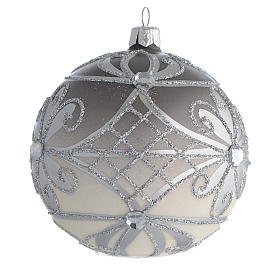 Christmas Bauble matte silver 10cm s2