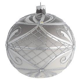 Bola de Navidad vidrio soplado plata 150 mm s2
