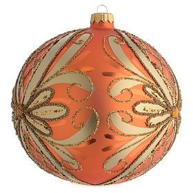 Palla Albero Natale vetro soffiato arancione 150mm s2