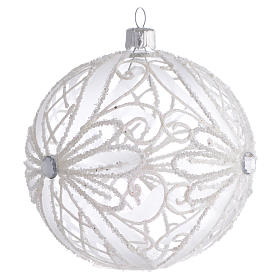 Christmas Bauble white transparent 10cm s2