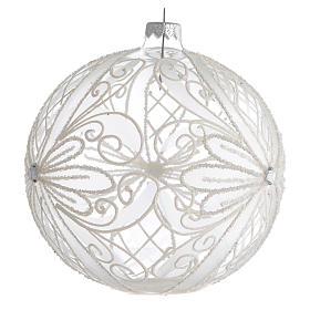 Christmas Bauble white transparent 15cm s2