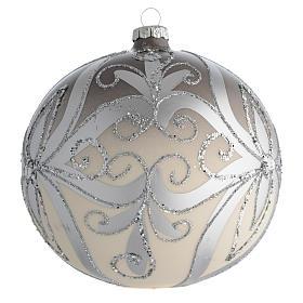 Palla Albero Natale vetro soffiato argento 150 mm s2