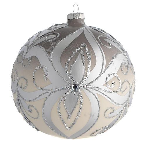 Palla Albero Natale vetro soffiato argento 150 mm 1
