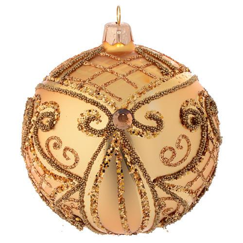 Christmas Bauble gold, matte base 10cm 2