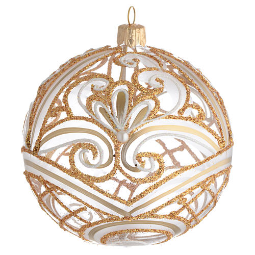 Christmas Bauble transparent and gold 10cm 1