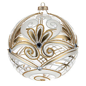 Christmas Bauble transparent and gold 15cm s1