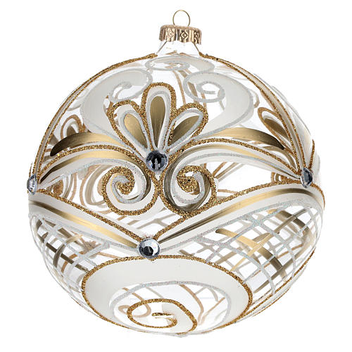 Christmas Bauble transparent and gold 15cm 3