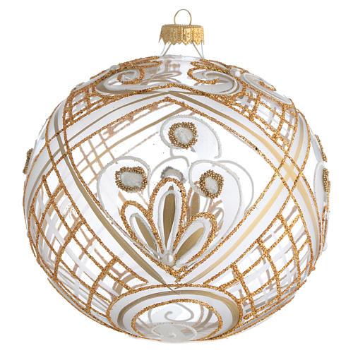 Palla addobbo Natale trasparente oro 150 mm 1