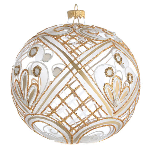 Christmas Bauble transparent and gold 15cm 2