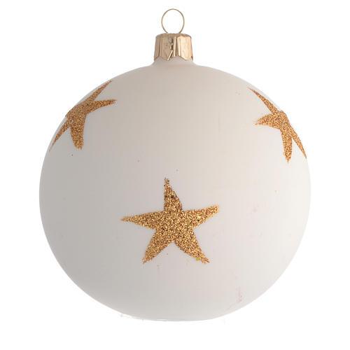 Bola de Navidad estrella de Navidad decoupage 100 mm 2