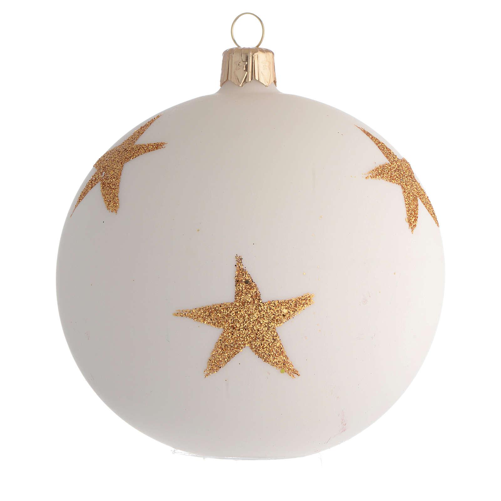 Palla Albero Natale stella di Natale decoupage 100mm 4
