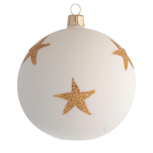 Palla Albero Natale stella di Natale decoupage 100mm 2